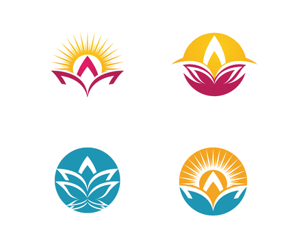 Beauty Vector lotus flowers design logo Template icon Illustration