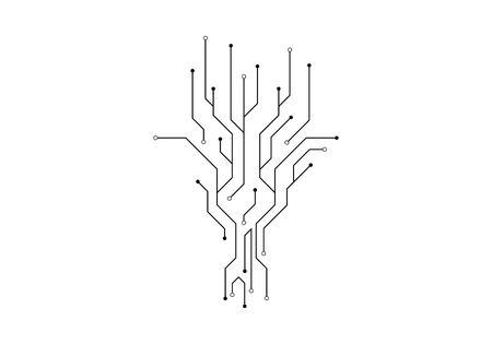 Circuit illustration design vector Vectores