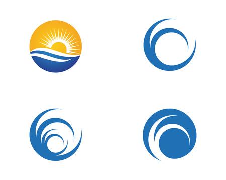 Water wave Logo Template vector illustration design. Illustration