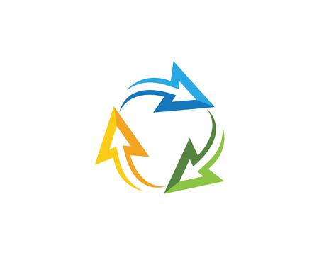 Arrow vector illustration icon Logo Template design.
