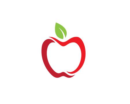 Apple vector illustration design icon logo template Vectores