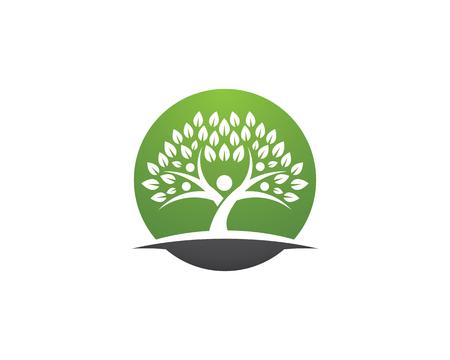Family Tree Symbol Icon Logo Design Template Illustration Royalty