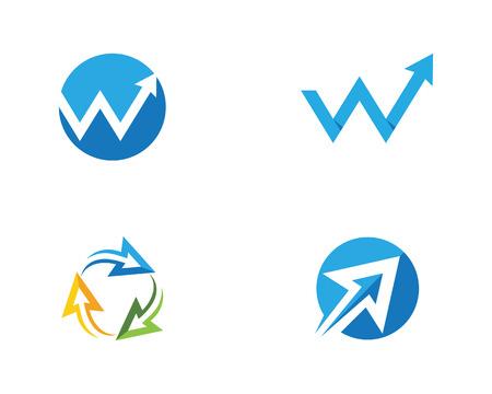 Arrow Logo Template design Illustration