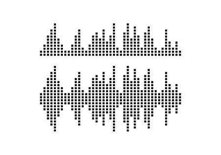 Sound wave icon vector template design illustration.