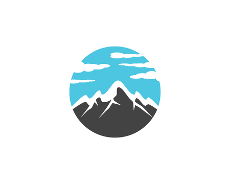 High Mountain icon  Logo Business Template Vector  イラスト・ベクター素材