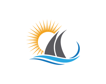 Cruise ship template vector icon design