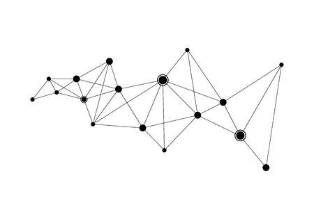polygonal background vector template Vectores