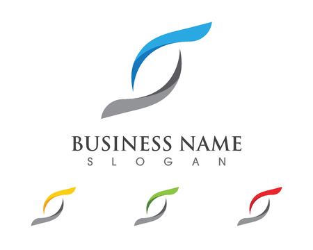 Business corporate S letter icon  design vector