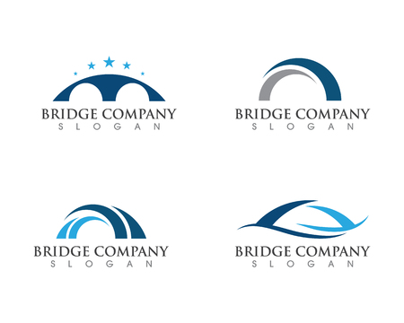 Bridge icon vector illustration Logo template design Stock Illustratie