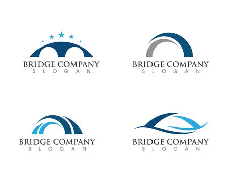 Bridge icon vector illustration Logo template design Vectores