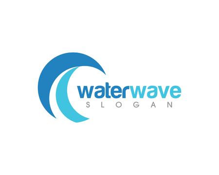 Water wave Logo Template vector illustration design