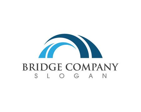 Bridge icon vector illustration Logo template design Illustration
