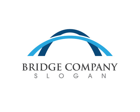 Bridge icon vector illustration Logo template design Иллюстрация