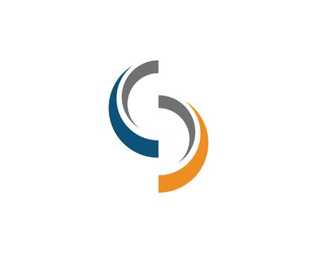 Buchstabe-Logo-Designvektor des Geschäftsunternehmens S Standard-Bild - 96720635