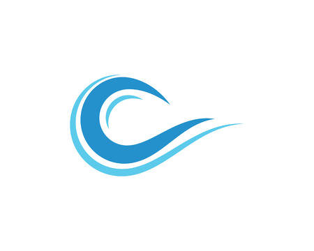 Water wave icon template vector illustration design.