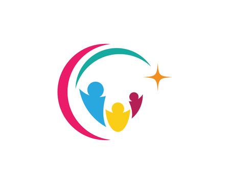 Adoption and Community care Icon template vector