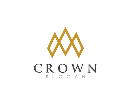 Crown Logo Template vector icon illustration design Фото со стока - 97195901
