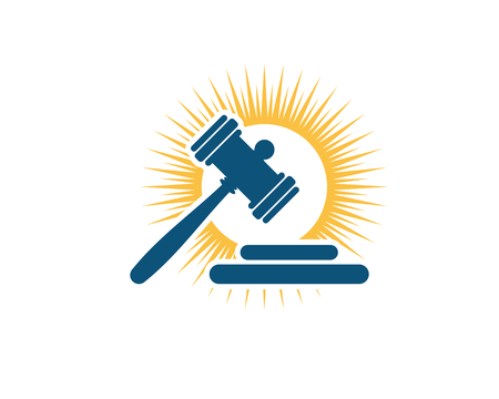 justice law Logo Template vector illustration design Illusztráció