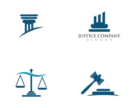 justice law Logo Template vector illsillustrationtration design