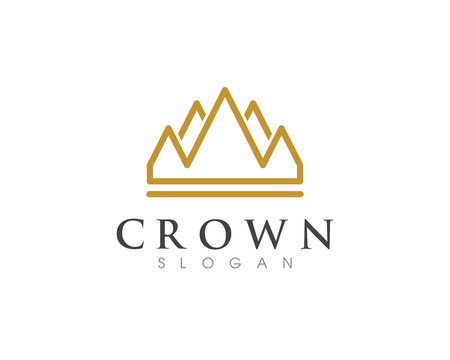 Crown Logo Template vector icon illustration design Imagens - 97196163