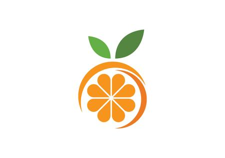 Orange logo design Vector illustration