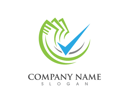 Business Finance professional logo template vector icon  イラスト・ベクター素材