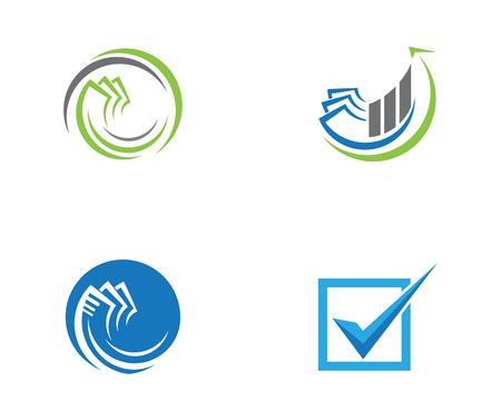 Business Finance professional logo template vector icon Stock Illustratie