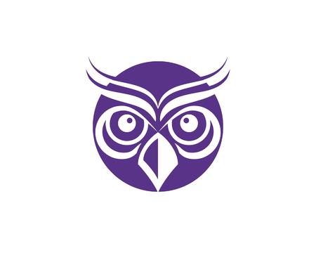 owl bird illustration logo template vector icon