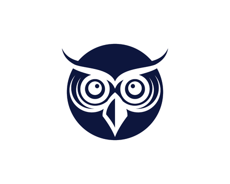 owl bird illustration logo template vector icon