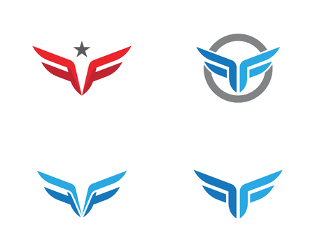 F Letter Wing Logo Template illustration design Logo