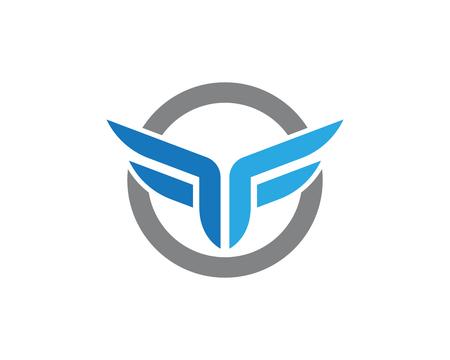 F Letter Wing Logo Template illustration design Illustration