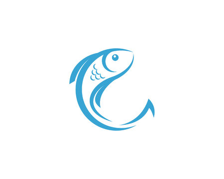 Fish Icon vector illustration logo template design