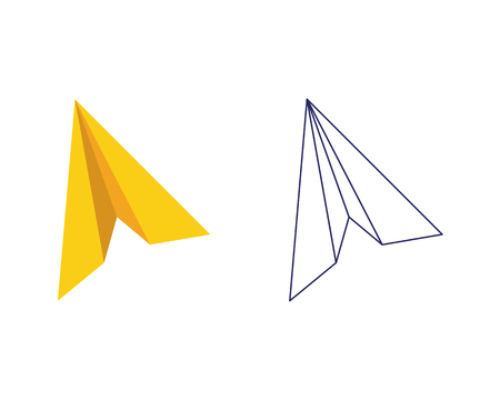 paper airplane icon vector illustration design logo template royalty