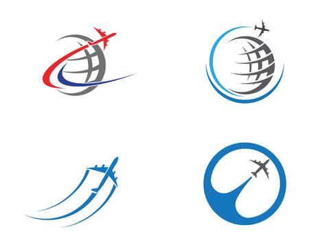 Airplane icon vector illustration design Logo Template