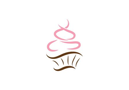 cake ilustration logo vector template  イラスト・ベクター素材