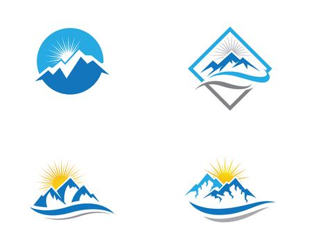 Mountain icon template vector illustration design.