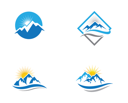 Mountain icon template vector illustration design.