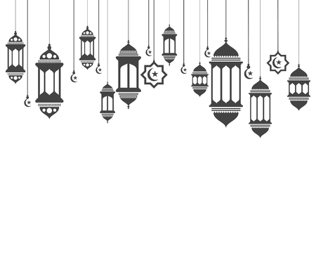 Hanging lamps vector Illustration