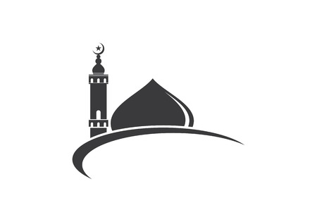 islamic mosque logo vector icon template 免版税图像 - 98539040