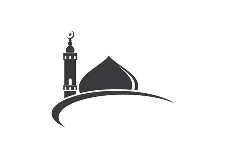 Islamische Moschee Logo Vektor-Symbol Vorlage