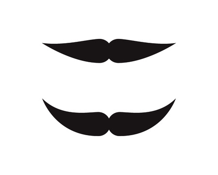 Mustache icon Logo template vector illustration design