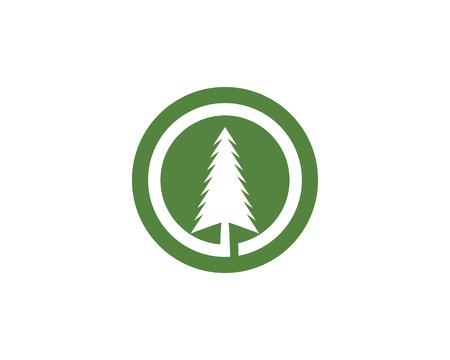 Cedar tree Logo template vector icon illustration design 向量圖像