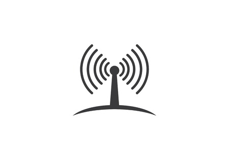 Wireless network or signal icon template vector icon