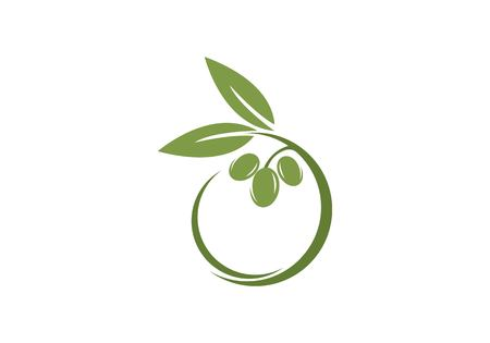 olive icon template Vector illustration. Vettoriali