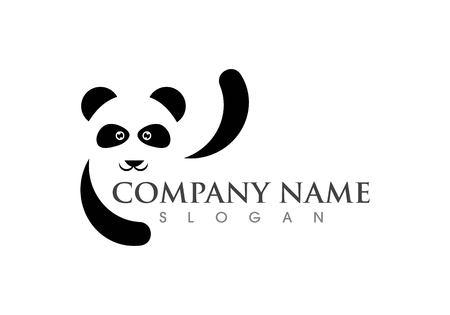 panda logo template vector illustration