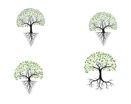 Tree icon template vector illustration design