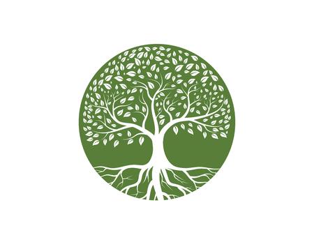 Diseño del ejemplo del vector de la plantilla del icono del árbol.