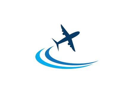 plane ilustration logo vector icon template Vettoriali