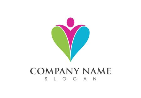 Human character logo sign. Health care logo sign