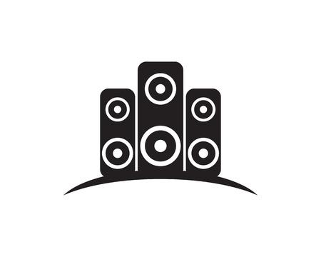 Sound icon vector illustration logo design template Illustration
